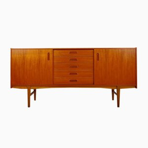 Scandinavian Modern Teak Sideboard with Shelves and Drawers, 1960s