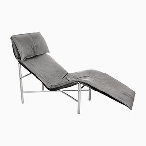 Leather Chaise Longue by Tord Bjorklund, 1970s