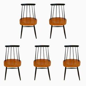 Fanett Stühle von Ilmari Tapiovaara für Edsby Verken, 1965, 5er Set