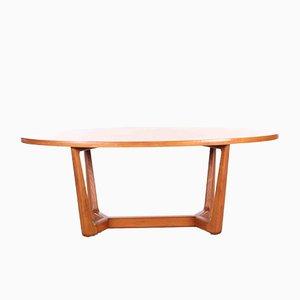 Czech Oval Coffee Table, 1960s