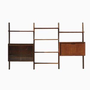 Danish Wall Unit by Poul Cadovius for Royal System, 1950s