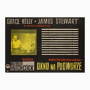Vintage Rear Window Film Poster by Witold Janowski
