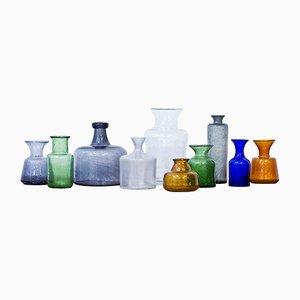 Vintage Vases by Erik Höglund for Boda, 1950s, Set of 10
