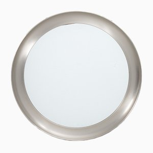 Italian Narcisso Nickel Mirror by Sergio Mazza for Artemide, 1960s