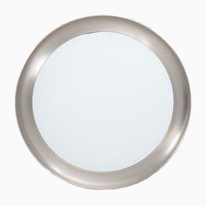 Italienischer Narcisso Nickel Spiegel von Sergio Mazza für Artemide, 1960er