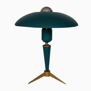 Grüne Mid-Century Tischlampe von Louis Kalff für Philips