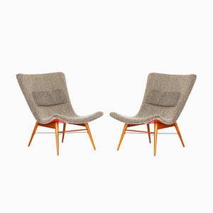 Lounge Chairs by Miroslav Navratil for Cesky Nabytek, 1960s, Set of 2