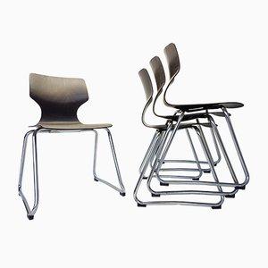 Vintage Stühle von Adam Stegner für Flötotto, 1960er, 4er Set