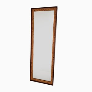 Swedish Rosewood & Cork Mirror from Glasmäster Markaryd, 1960s