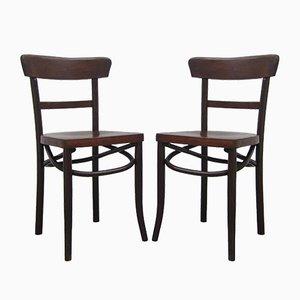 Vintage Belgian Side Chairs, Set of 2