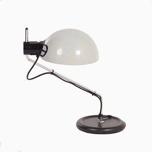 Weiße Vintage Schreibtischlampe von Guzzini, 1980er