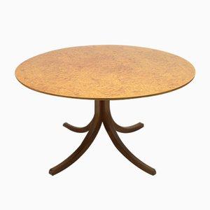 Model 1020 Root Veneer Dining Table by Josef Frank for Svenskt Tenn, 1960s