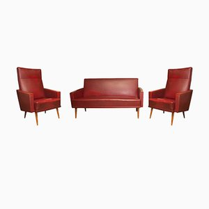 Mid-Century Czech Lounge Set, Set of 3