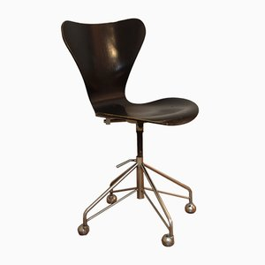 Vintage 3117 Butterfly Series 7 Swivel Chair by Arne Jacobsen for Fritz Hansen