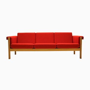 Mid-Century GE40 Oak 3-Seater Couch by Hans J. Wegner for Getama