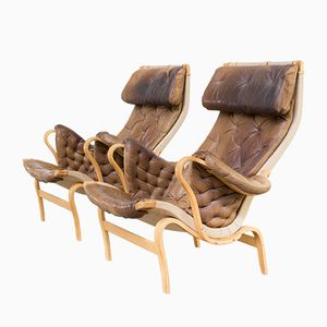 Pernilla Fauteuils by Bruno Mathsson for Dux, 1970s, Set of 2