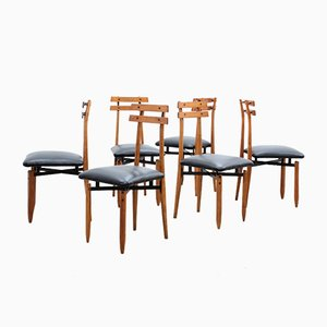 Mid-Century Dining Chairs by Aloi Roberto, Set of 6