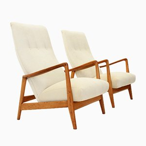 Model 829 High Back Armchairs by Gio Ponti for Cassina, 1958, Set of 2