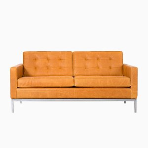 Leather Sofa by Florence Knoll Bassett for Knoll, 1970s