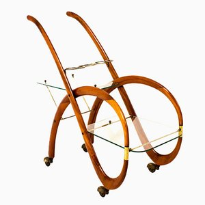 Italian Bar Cart by Gaetano Pizzi, 1950s