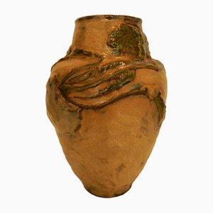 Antike Sandstein Vase von Ernest Carrière
