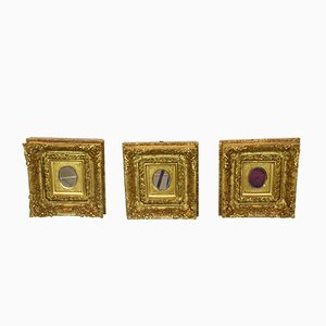 Antique Gilded Mirrors, Set of 3