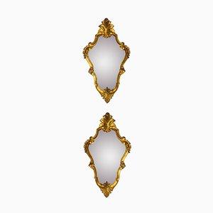 Vintage Italian Gilded Mirrors, Set of 2