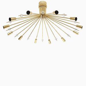Lampada da soffitto Stella Mid-Century di J.T. Kalmar, anni '50