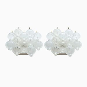 Mid-Century Glass Wall Lights by J.T Kalmar, 1960s, Set of 2