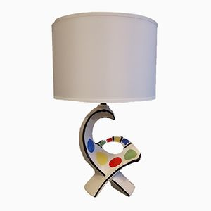 Mid-Century Zoomorphic Ceramic Lamp, 1950s