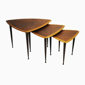 Danish Teak & Oak Nesting Tables, 1950s