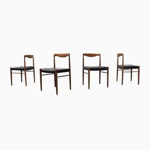 Mid-Century Dining Chairs by Kalderoni Rheydt for Wellner Mobel, Set of 4