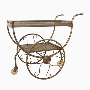 Vintage Brass Bar Cart by Josef Frank for Svenskt Tenn