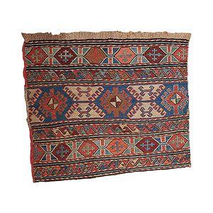 Antique Russian Sumak Handmade Rug