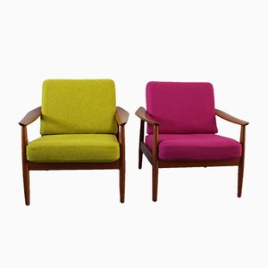 Model 164 Lounge Chairs by Arne Vodder for France & Søn, 1955, Set of 2