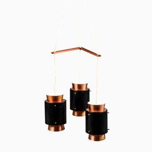 Dänische Mid-Century Kupfer Deckenlampe von Jo Hammerborg für Fog & Mørup, 1960er