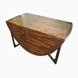 Danish Gateleg Dropleaf Rosewood Dining Table by Kurt Østervig for Jason Møbler
