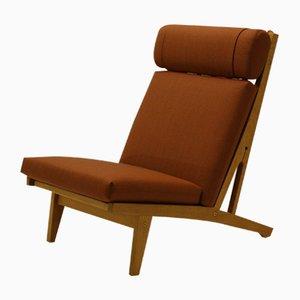 Danish GE375 Oak Lounge Chair by Hans J. Wegner for Getama, 1960s