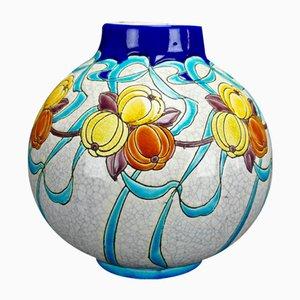 Art Deco Vase von Charles Catteau für Boch Frères, 1924
