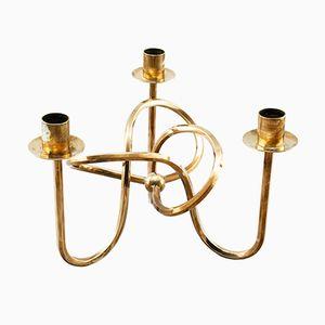 Schwedischer Vintage Messing Kerzenständer von Josef Frank für Svenskt Tenn