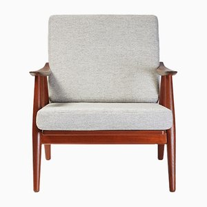 GE-270 Teak Lounge Chair by Hans J. Wegner, 1956