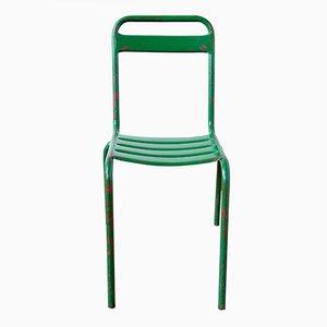 Chaises de Bistro Vintage en Métal Vert