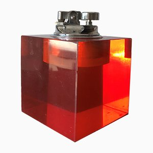 Viereckiges Murano Glas Feuerzeug, 1960er