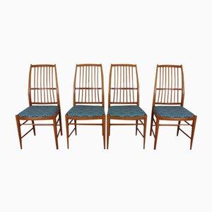Mid-Century Napoli Chairs by David Rosén for Nordiska Kompaniet, Set of 4