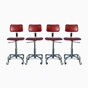 Office Chairs, 1960s, Set of 4