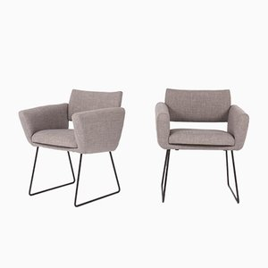 Model 763 Armchairs by Joseph André Motte for Steiner, 1958, Set of 2