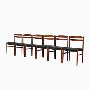 Chaises de Salon Mid-Century en Teck par Carl Ekström pour Johansson & Söner, 1969s, Set de 6