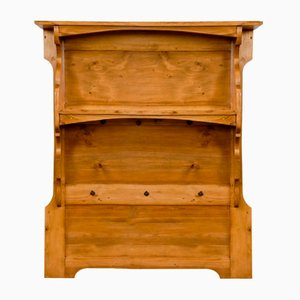 Antique German Kitchen Wood Wall Board Shelf