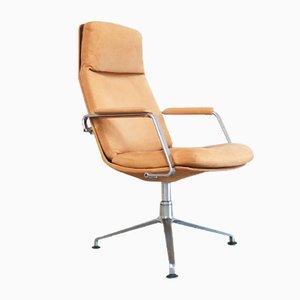 Sedia da ufficio FK-86 Mid-Century in pelle color cognac di Preben Fabricius & Jorgen Kastholm per Kill International