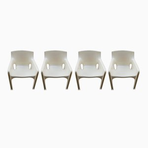 Gaudi Dining Chairs by Vico Magistretti for Artemide, 1970s, Set of 4